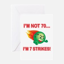 70th Bday Strikes Greeting Card