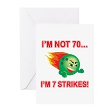 70th Bday Strikes Greeting Cards (Pk of 10)