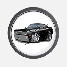 Duster Black-White Car Wall Clock
