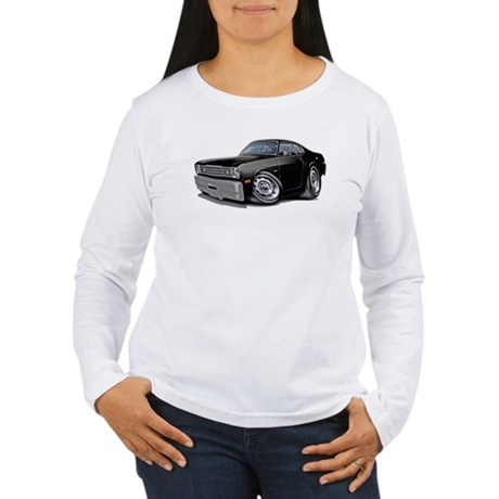 1970-74 Duster Black Car Women's Long Sleeve T-Shi