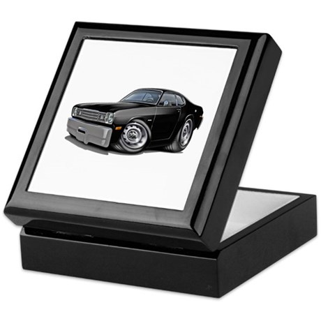 1970-74 Duster Black Car Keepsake Box