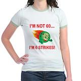 60th birthday 2c bowling Jr. Ringer T-Shirt