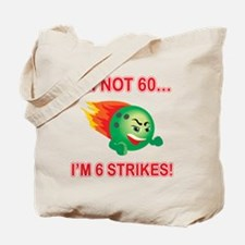 60th Bday Strikes Tote Bag