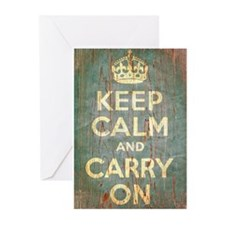 KEEP CALM & CARRY ON Greeting Cards (Pk of 10)