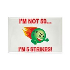 50th Bday Strikes Rectangle Magnet