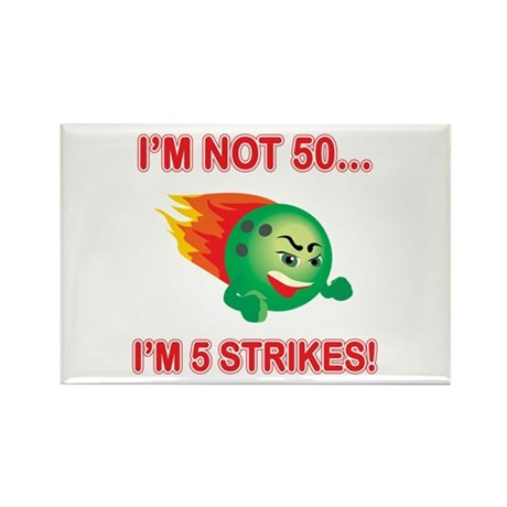 50th Bday Strikes Rectangle Magnet (100 pack)