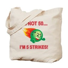 50th Bday Strikes Tote Bag