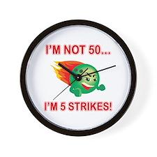 50th Bday Strikes Wall Clock