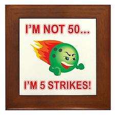 50th Bday Strikes Framed Tile