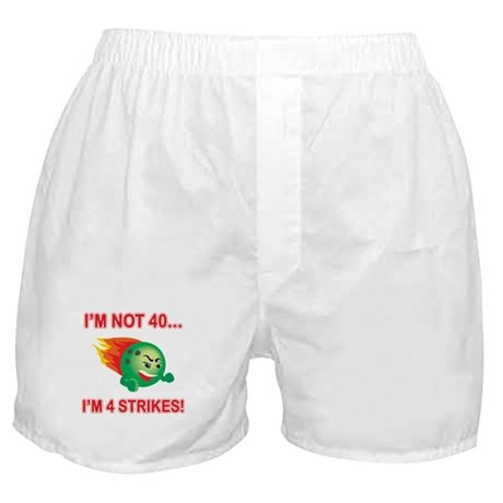 40th Bday Strikes Boxer Shorts