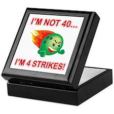 40th Bday Strikes Keepsake Box