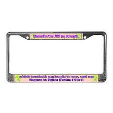 Psalm 144:1 License Plate Frame