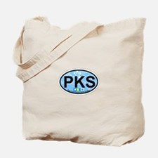 Pine Knoll Shores NC - Oval Design Tote Bag
