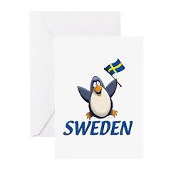 Sweden Penguin Greeting Cards (Pk of 20)