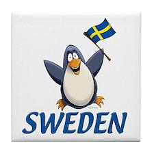 Sweden Penguin Tile Coaster