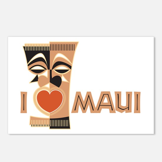 I Love Maui Postcards (Package of 8)