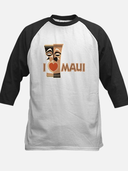 I Love Maui Kids Baseball Jersey