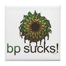 bp Sucks Tile Coaster
