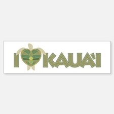 I Love Kaua'i Bumper Bumper Sticker