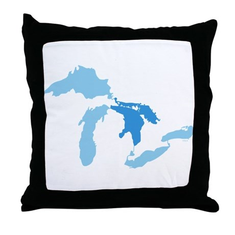 Lake Huron Throw Pillow