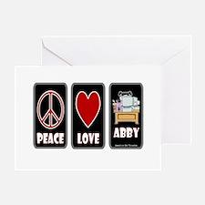 Peace Love Abby Greeting Card