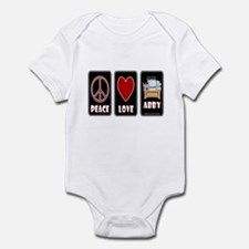 Peace Love Abby Infant Bodysuit