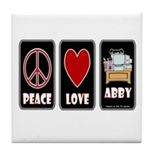 Peace Love Abby Tile Coaster