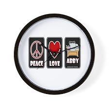 Peace Love Abby Wall Clock