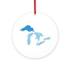 Lake Superior Ornament (Round)