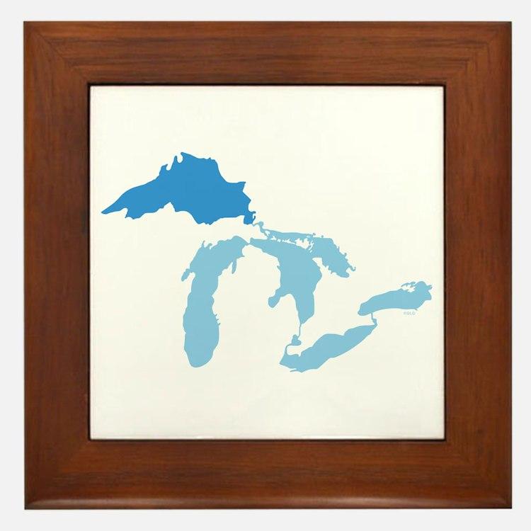 Lake Superior Framed Tile