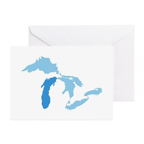 Lake Michigan Greeting Cards (Pk of 10)