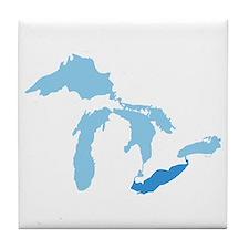 Lake Erie Tile Coaster