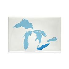 Lake Erie Rectangle Magnet
