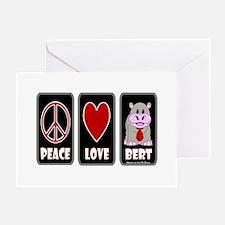 Peace Love Bert Greeting Card