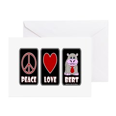 Peace Love Bert Greeting Cards (Pk of 10)