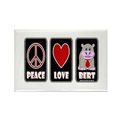 Peace Love Bert Rectangle Magnet
