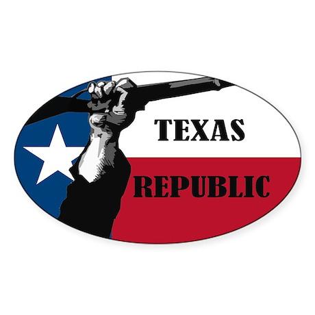 Republic of Texas Sticker (Oval)
