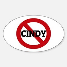 Anti-Cindy Oval Decal