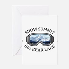 Snow Summit - Big Bear Lake - Cal Greeting Cards