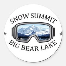 Snow Summit - Big Bear Lake - C Round Car Magnet