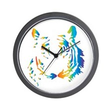Rainbow Tiger Wall Clock
