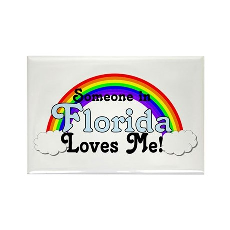 Someone in FL Loves Me Rectangle Magnet