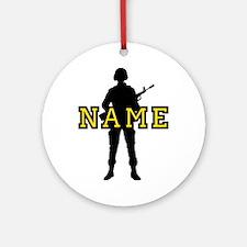 Army Custom #5 Ornament (Round)