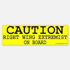 Caution: Bumper Bumper Sticker