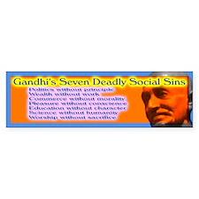 Seven Deadly Social Sins Bumper Bumper Sticker