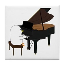 Concert Pianist Tile Coaster