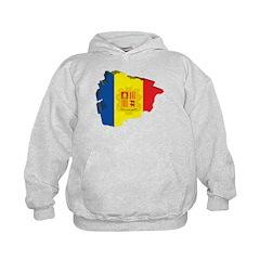 3D Map Of Andorra Kids Hoodie