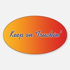 Retro Keep On Truckin Sticker (Oval)
