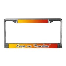 Retro Keep On Truckin License Plate Frame