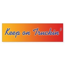 Retro Keep On Truckin Bumper Sticker